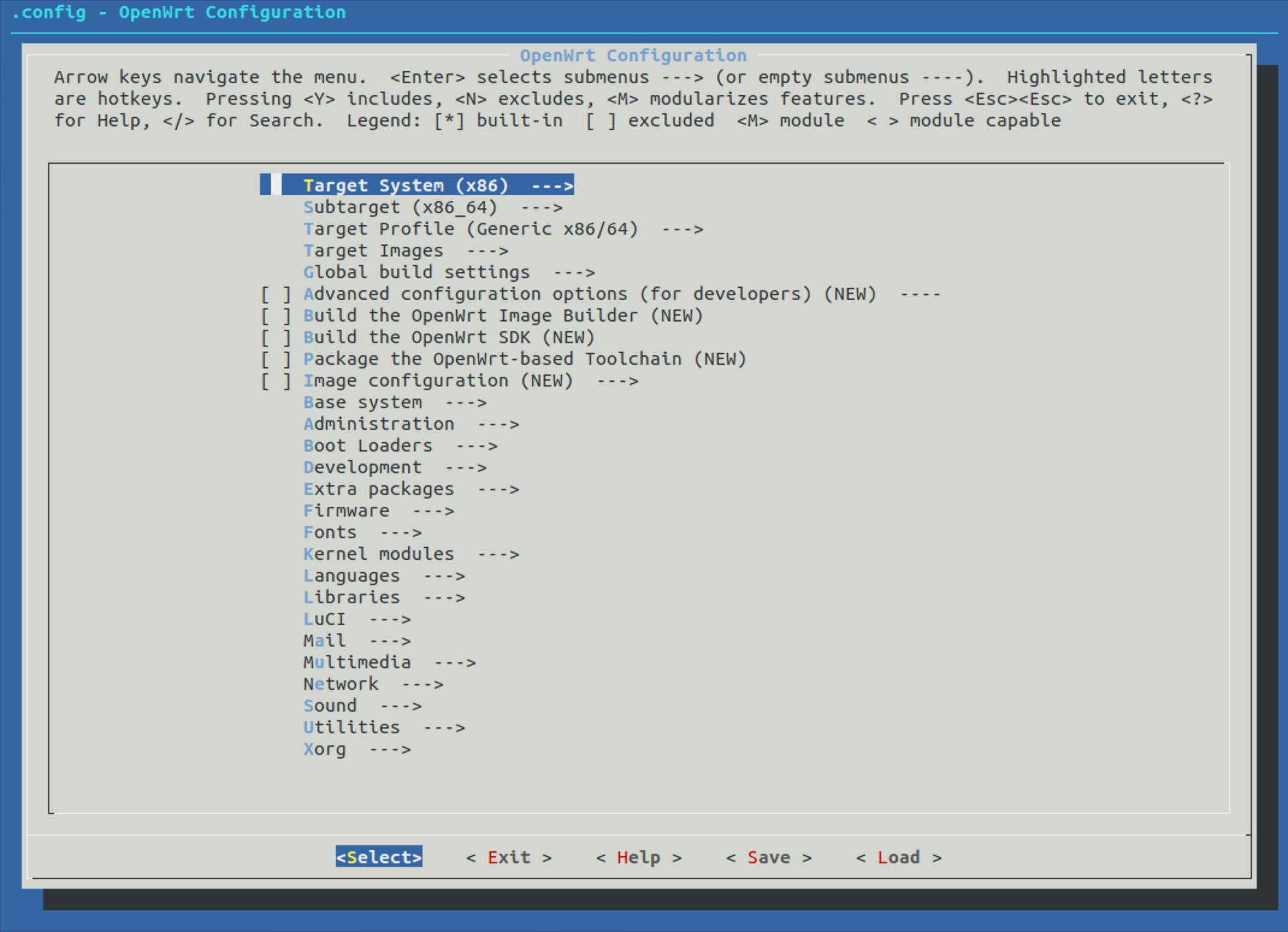编译 Openwrt 固件